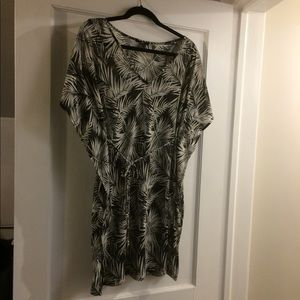 Tropical beach cover up size small
